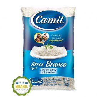 Empório Brasil - Arroz Branco Camil Tipo 1 pacote 1kg