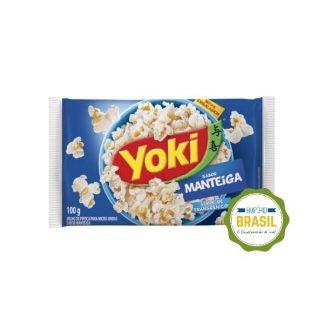 Empório Brasil - Pipoca para microondas Yoki sabor manteiga