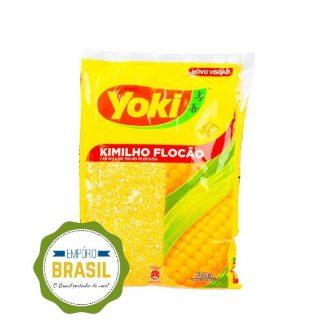 Empório Brasil - Farinha de milho flocão para cuscuz Yoki 500g