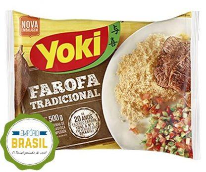 Empório Brasil - Farofa pronta de mandioca Yoki 500g